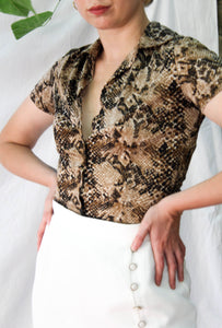 VINTAGE UNSNAKE STRETCHY TOP
