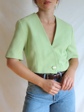Load image into Gallery viewer, VINTAGE PISTACHIO GELATO CROPPED JACKET