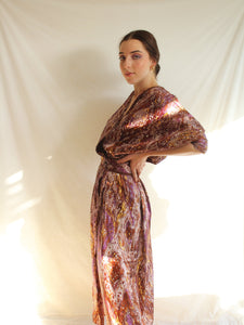 Vintage 70's Handmade Purple Haze Wrap Dress (S)
