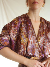 Load image into Gallery viewer, Vintage 70's Handmade Purple Haze Wrap Dress (S)