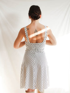 Vintage Y2K Do's & Dots Polka Dot Midi Dress (S)