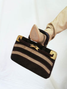 VINTAGE 70'S I'LL BE LATE FOR DINNER HANDBAG