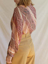 Load image into Gallery viewer, Vintage 70's Handmade Ruffle Blouse (M)