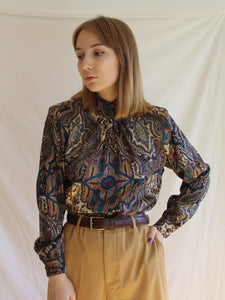 Vintage 80's Marrakech Collar Blouse (S)