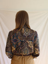Load image into Gallery viewer, Vintage 80's Marrakech Collar Blouse (S)