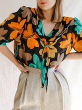 Load image into Gallery viewer, Vintage 60's Orange Is My Color Handmade Blouse (L)