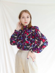 VINTAGE BACK TO FRONT 80'S BLOUSE