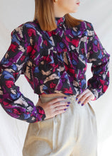 Load image into Gallery viewer, VINTAGE BACK TO FRONT 80'S BLOUSE