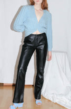 Load image into Gallery viewer, VINTAGE 90'S SMOKEY STRAIGHT LEG LEATHER PANTS