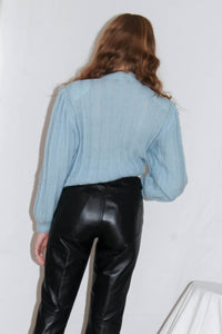 VINTAGE 90'S SMOKEY STRAIGHT LEG LEATHER PANTS