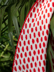 Vintage 70's Dot To Self Skinny Scarf