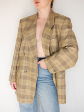 Load image into Gallery viewer, VINTAGE 90׳S ENQUÊTEUR CHECKED DOUBLE BREASTED BLAZER