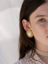 Load image into Gallery viewer, Vintage 80's Oversized Miss Sunshine Faux Pearl Earrings