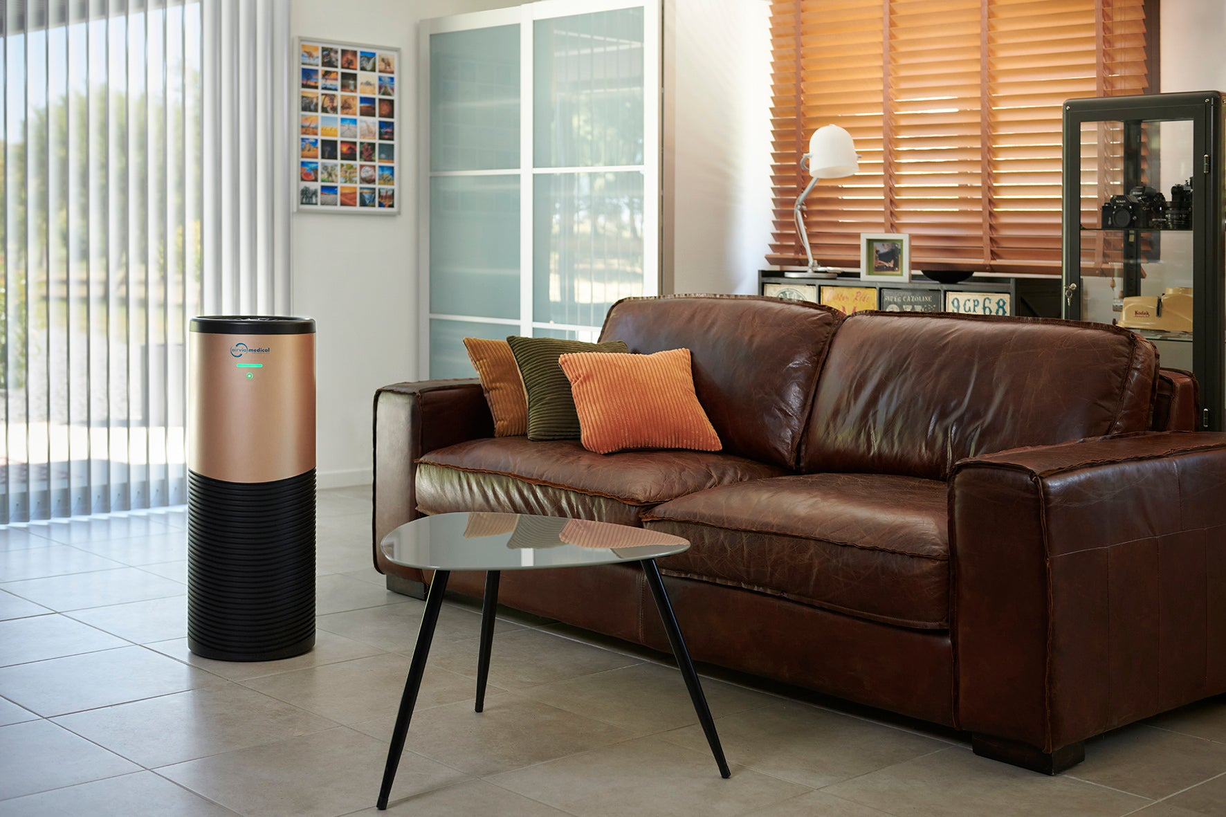 AIRVIA PRO 150 air purifier in a living room