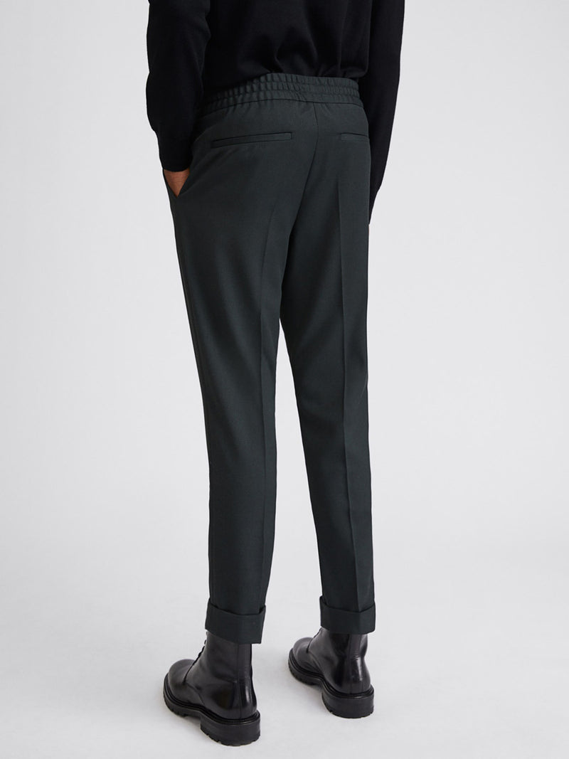 Terry Cropped Trouser | Dark Spruce