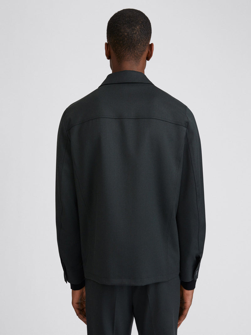 Louis Gabardine Jacket | Dark Spruce