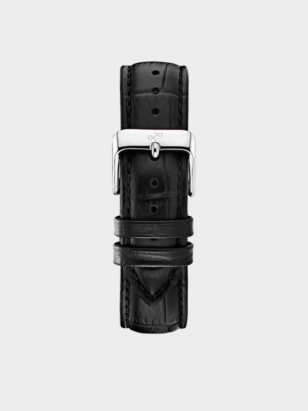 Pin Buckle Strap | Black Croco Leather