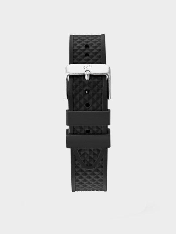 Pin Buckle Strap | Black Silicone