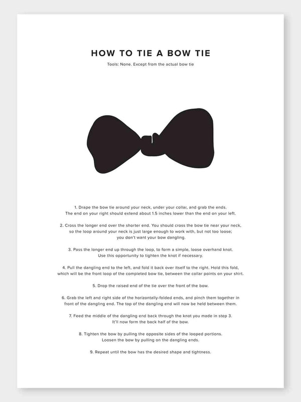 How To Tie A Bow Tie Poster