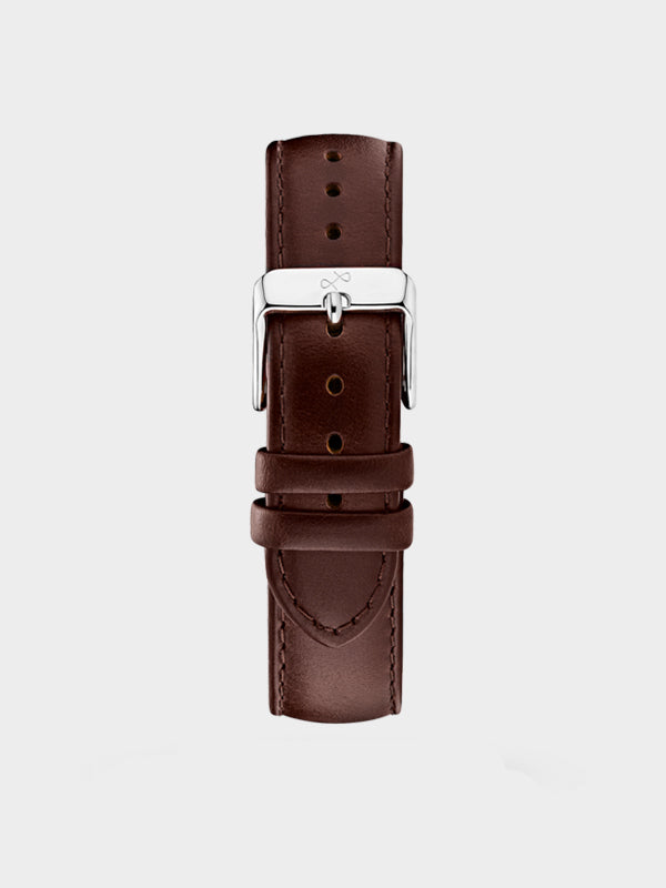 Pin Buckle Strap | Dark Brown Leather