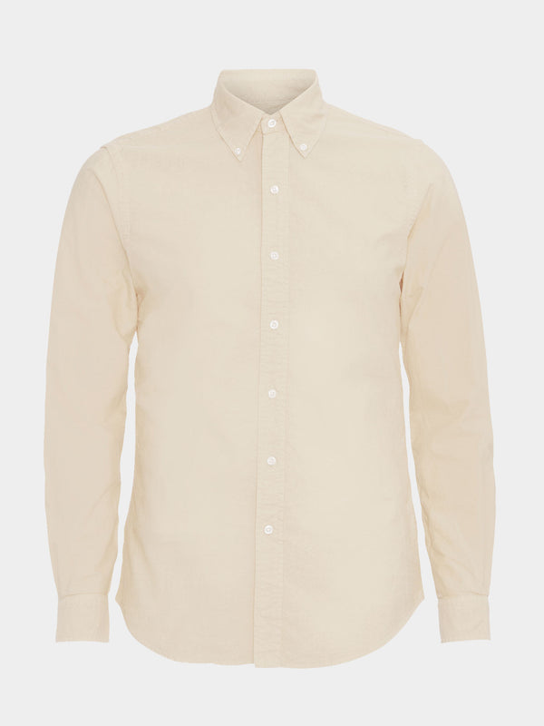 Classic Organic Button Down Shirt | Ivory White