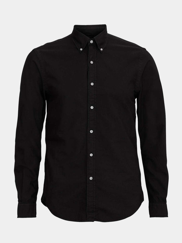 Classic Organic Button Down Shirt | Deep Black