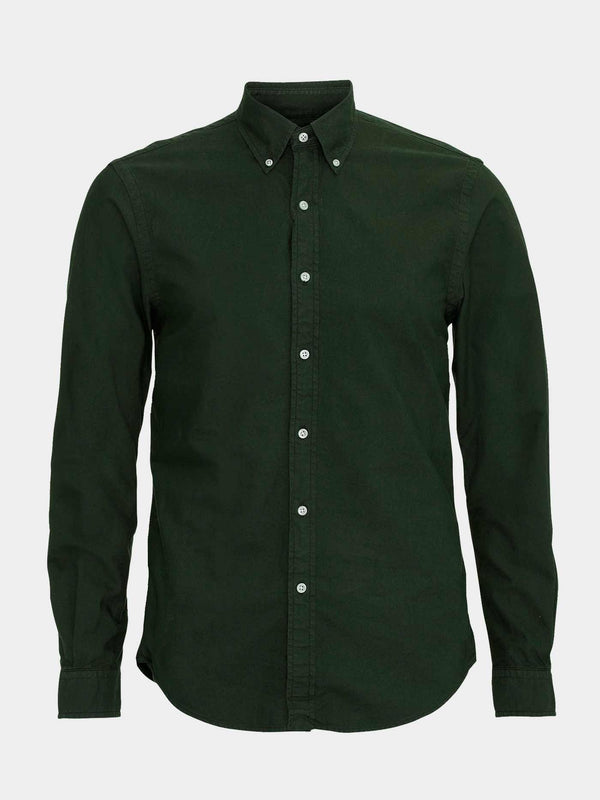 Classic Organic Button Down Shirt | Hunter Green