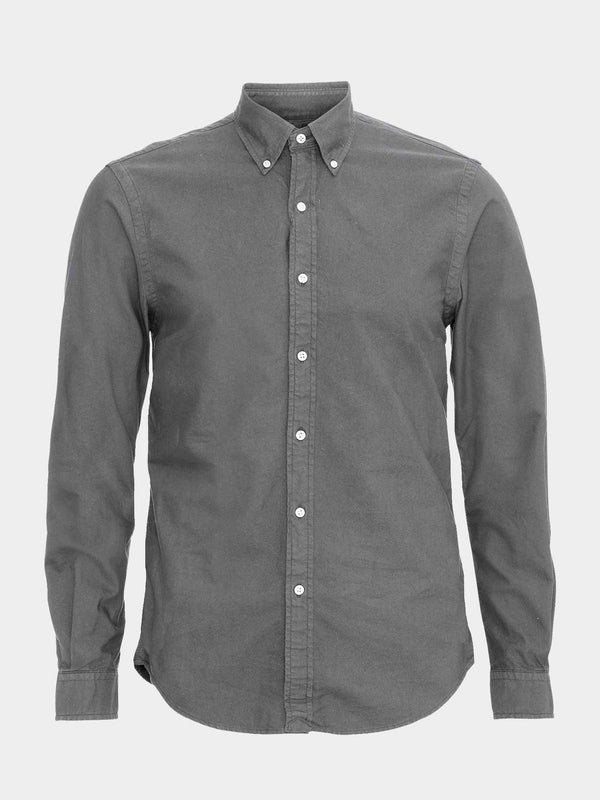 Classic Organic Button Down Shirt | Storm Grey