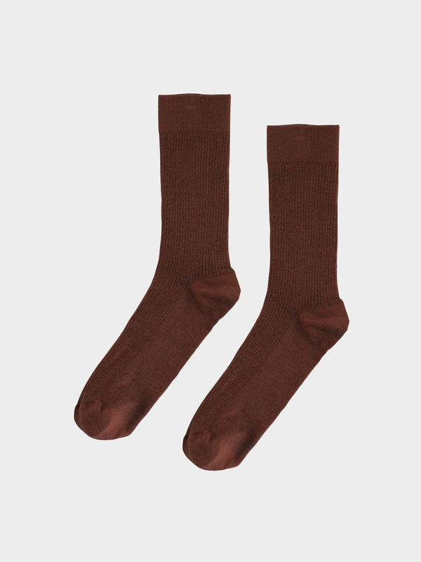 Classic Organic Sock | Coffee Brown