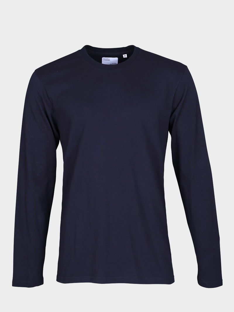 Classic Organic Long Sleeve Tee | Navy Blue