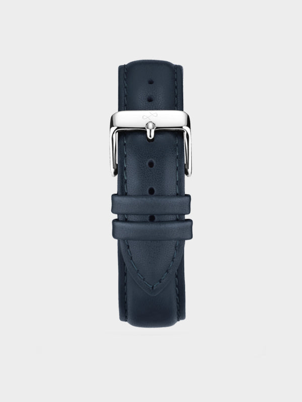Pin Buckle Strap | Dark Blue Leather