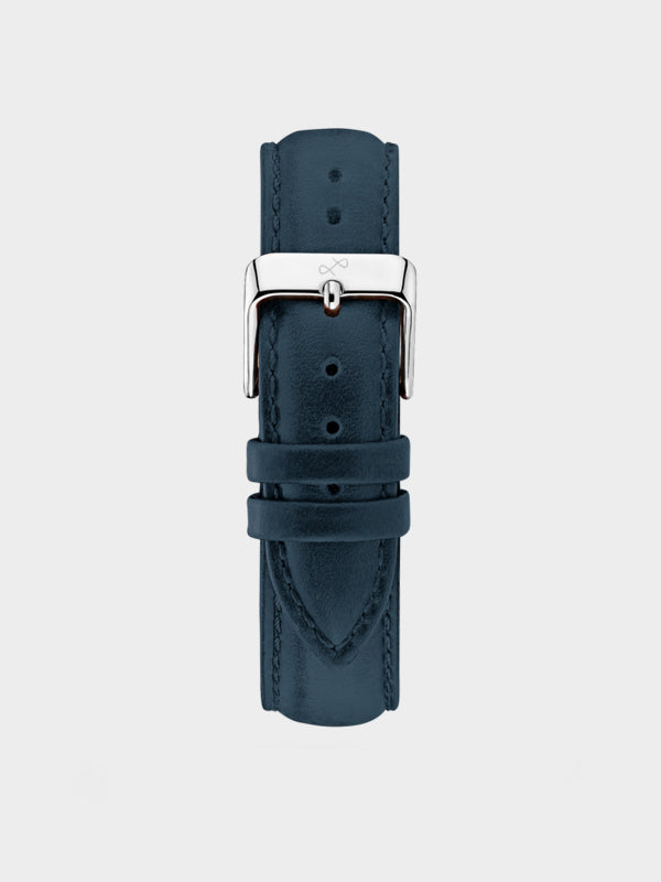 Pin Buckle Strap | Dark Blue Suede