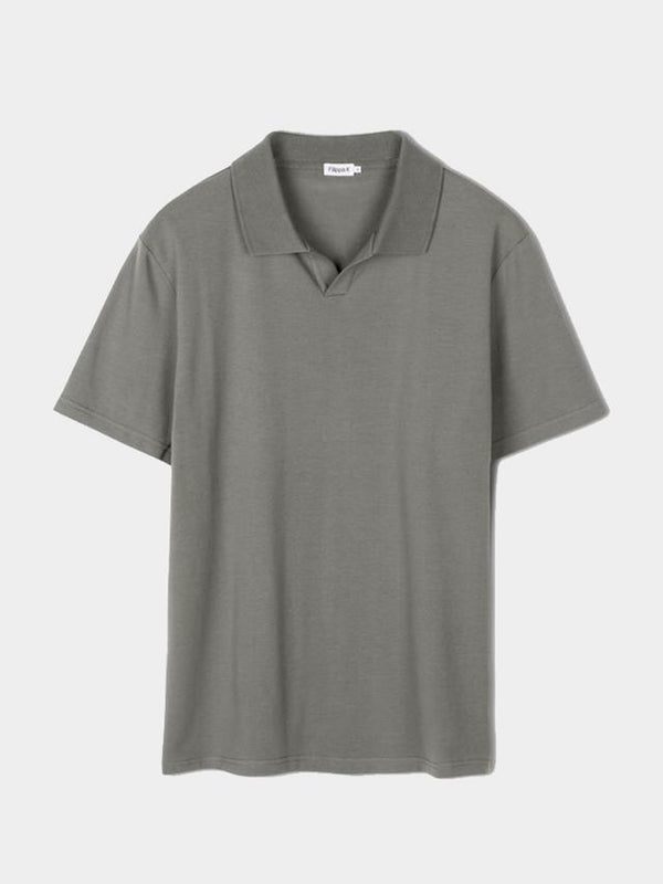 Lycra Polo Tee | Green Grey