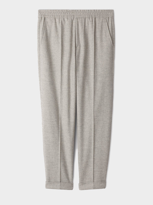 Terry Flannel Trouser | Warm Grey