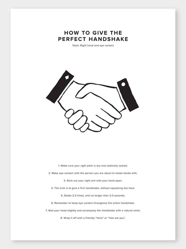 How To Give The Perfect Handshake Poster