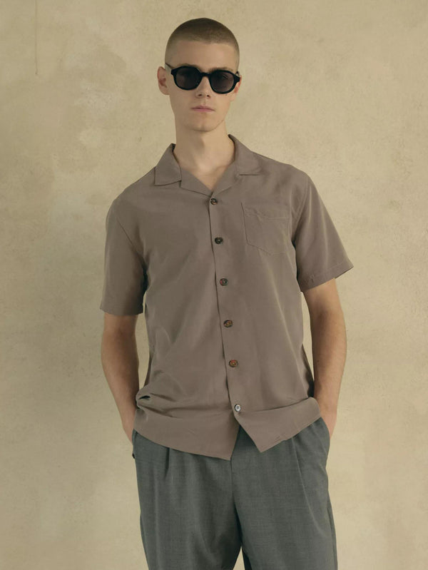 Cave Short Sleeve Shirt | Grey Melange