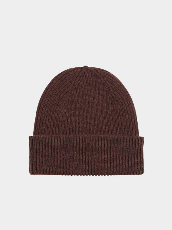 Merino Wool Beanie | Coffee Brown