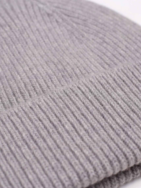 Merino Wool Beanie | Heather Grey