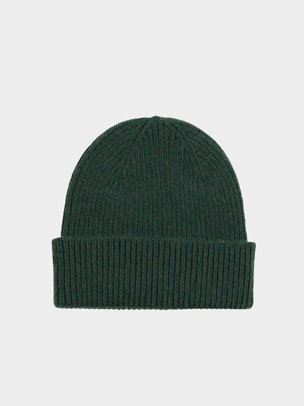 Merino Wool Beanie | Hunter Green