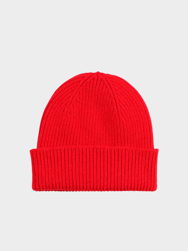 Merino Wool Beanie | Scarlet Red