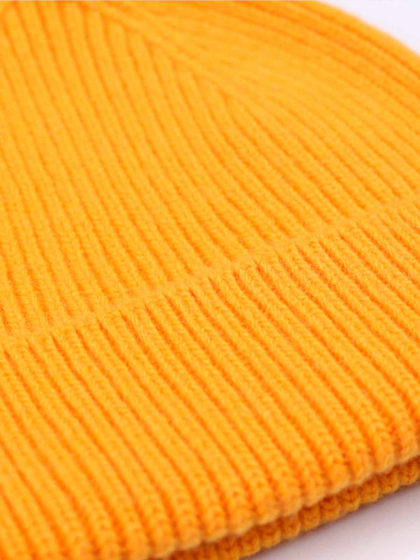 Merino Wool Beanie | Burned Yellow