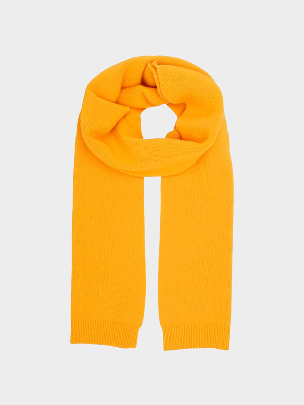 Merino Wool Scarf | Burned Yellow