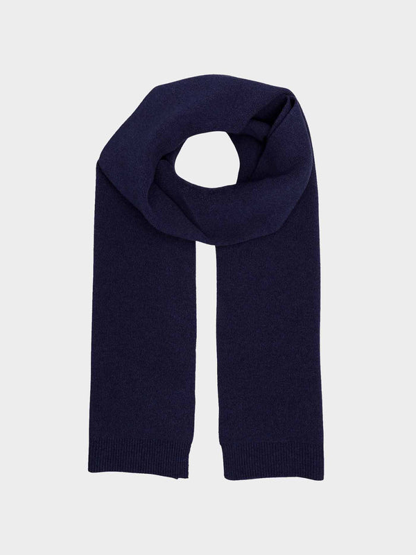 Merino Wool Scarf | Navy Blue