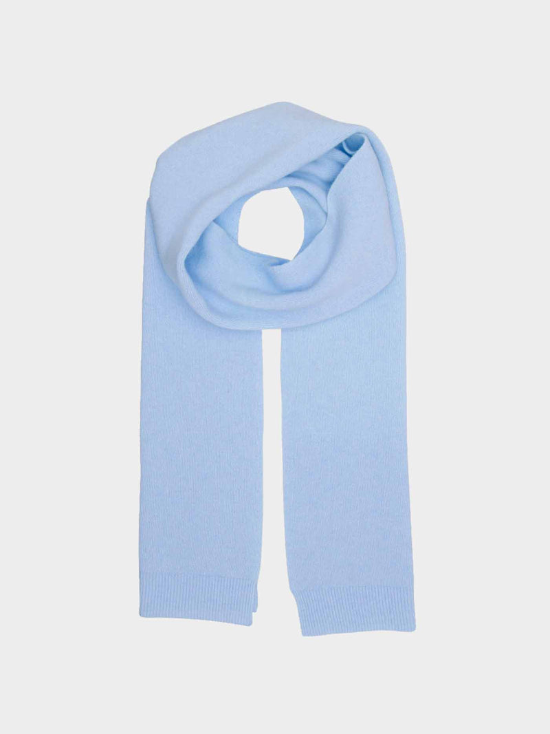Merino Wool Scarf | Polar Blue