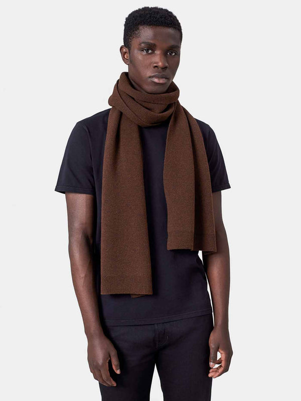 Merino Wool Scarf | Deep Black