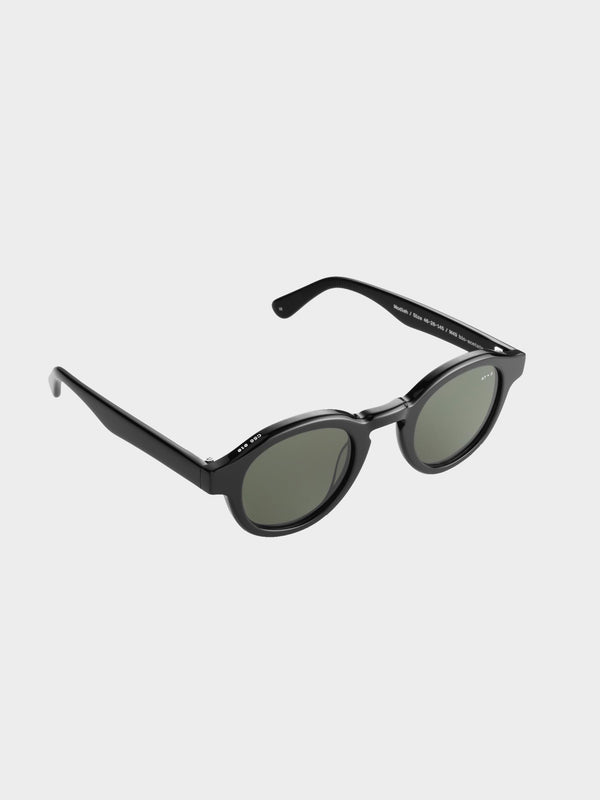 Modish Sunglasses | Black Green lenses