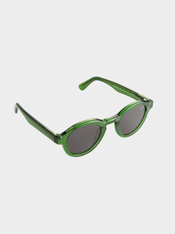 Modish Sunglasses | Transparent green Gray lenses