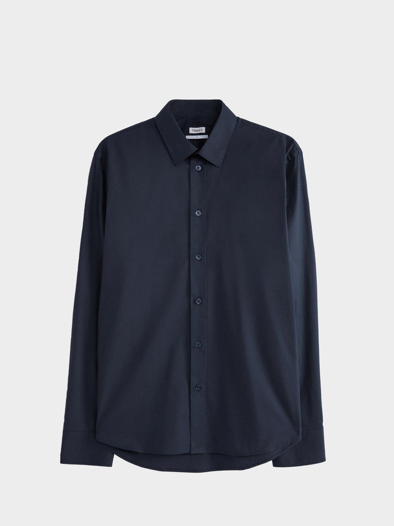 Paul Stretch Shirt | Navy