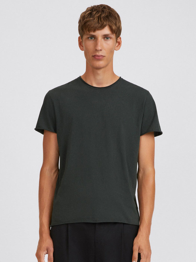 Roll Neck Tee | Dark Spruce