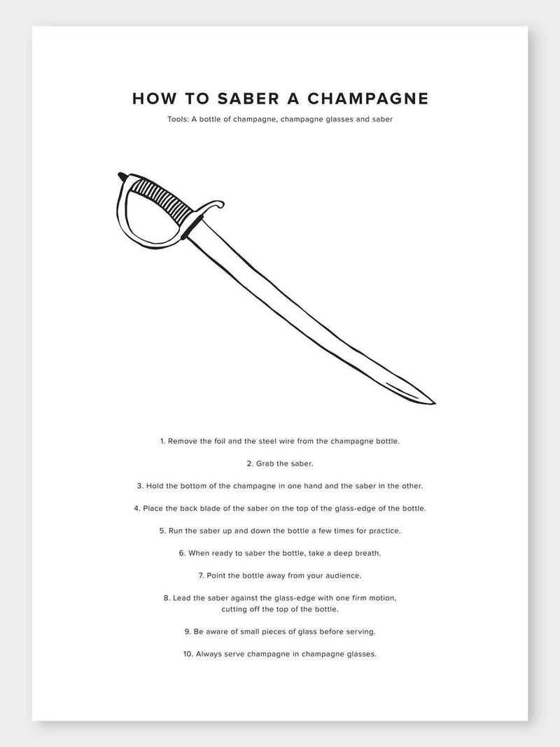 How To Saber A Champagne Poster